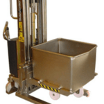 Stainless Steel Lifter with Cradle Attachment for Handling Euro-Bins