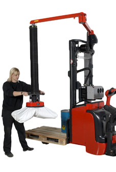 vacuum lifting for sacks or bags