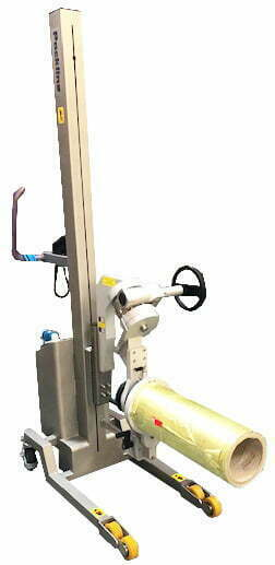 Roll Handling With Geared Rotation And Roll Ejector